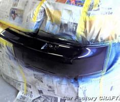 A6 フロントバンパーのキズ補修、塗装