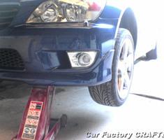 アルテッツァ 純正エアロの補修、塗装、取付