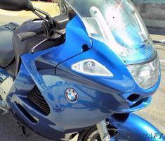 K1200RS サイドボックス/ナックルガードの塗装