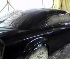 300C 右側面すりキズの補修、塗装