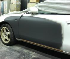 セリカ 左フェンダー/ドアの板金塗装 ※参考価格表示