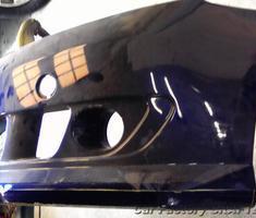 デミオ フロントバンパーのエアロ加工/LED取付
