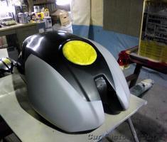 Monster400 タンク/フロントフェンダーの塗装