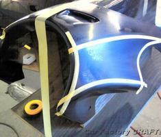 Monster400 社外ビキニカウルのオリジナルライン塗装