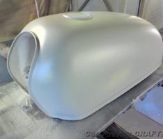 エイプ50 タンクのキズ補修/塗装