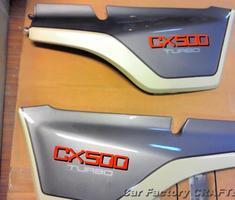 CX500 アッパーカウル/サイドカウルの部分補修