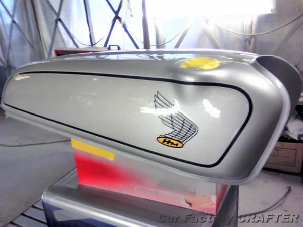 ドリーム50 ヘコミ、塗装浮き、キズの補修/塗装