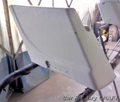 H-D FLSTN サイドボックスの塗装