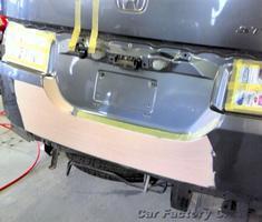 ステップワゴン リアハッチの修正/左リアまわりの補修