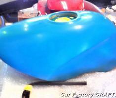VT250 スパーダ タンク/マフラーの塗装