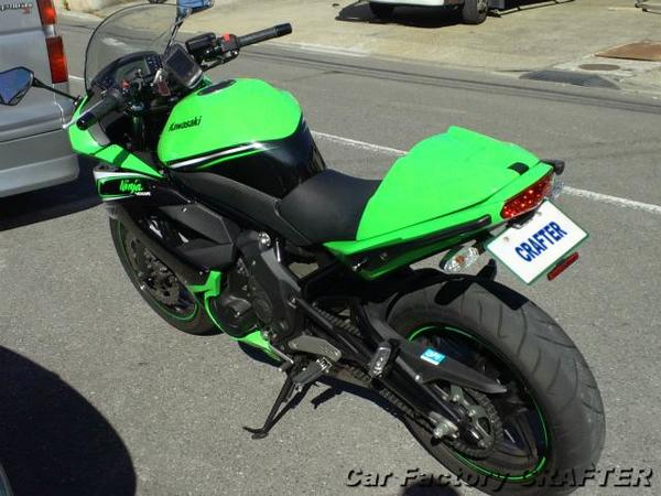 Ninja400R シングルシートシェルの塗装