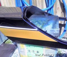 ZRX シートカウルのヘコミ修正、キズ補修、塗替え