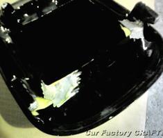 ZX-9R シートカウルのキズ/割れ補修、塗装