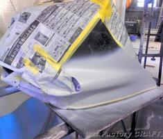 ZZR1100 カウルのキズ補修/マフラーの交換