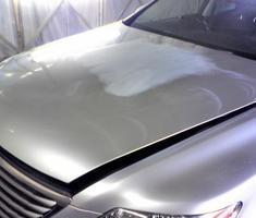 LS460 ボンネットのキズ補修、塗装
