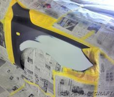 アクセラ フロントフェンダー/バンパーの板金塗装