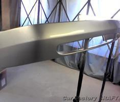 C200 バンパーのキズ補修、塗装