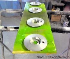 MAEホイール モノブロックタイプのキズ補修、塗装