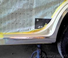 モコ ロッカパネルの修正/前後ドアの交換
