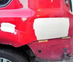 エクストレイル クォーターパネルの板金、塗装