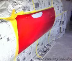 バラクーダ フェンダー/ドア部分塗装/社外パーツ取付