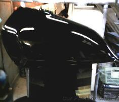 グラストラッカー タンクのヘコミ/キズ補修/塗替え