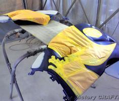 GSX1300R アッパー/サイド/フェンダーカウルの補修