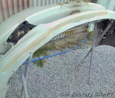 レガシィ アウトバック 前後バンパーの補修/塗装