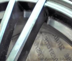インプレッサ 純正ホイール塗装面の部分補修