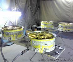 エスティマ 社外19インチホイールの補修・塗装