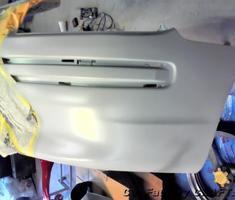 カローラスパシオ フロントバンパーの部分補修、塗装