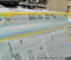 ゴルフワゴン ドア塗装剥げ部分の再塗装