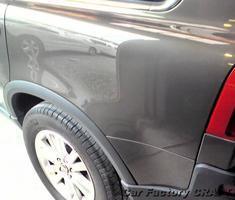 XC90 クォーターパネルのキズ補修、塗装