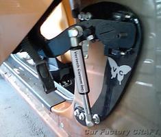 フェアレディZ ガルウィングキッドの加工、取り付け